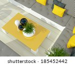 outdoor patio seating area with ... | Shutterstock . vector #185452442