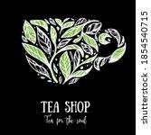 tea leaves concept illustration.... | Shutterstock .eps vector #1854540715