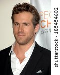 ryan reynolds in the press room ... | Shutterstock . vector #185454602