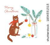 christmas holidays banner or...   Shutterstock .eps vector #1854551515