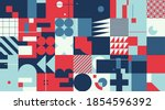 abstract geometric vector... | Shutterstock .eps vector #1854596392