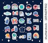bundle of twenty five new norm... | Shutterstock .eps vector #1854609502