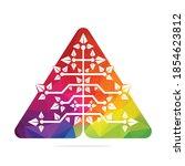 vector digital christmas tree.... | Shutterstock .eps vector #1854623812
