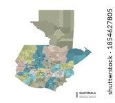 guatemala high detailed map... | Shutterstock .eps vector #1854627805