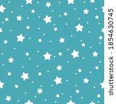 Star Seamless Pattern. White...