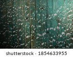 Old Wooden Fence With Flakes...