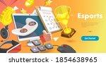 3d vector conceptual... | Shutterstock .eps vector #1854638965