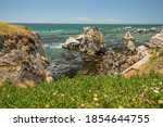 Pismo Beach Cliffs At Low Tide. ...