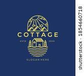 cottage line art logo vector... | Shutterstock .eps vector #1854660718