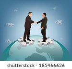 business dealing agreement.... | Shutterstock .eps vector #185466626