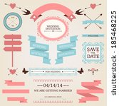 vector collection of vintage... | Shutterstock .eps vector #185468225