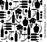 vector  pattern with black wine ... | Shutterstock .eps vector #185468258