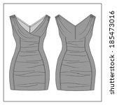 vectoral women's dress design. | Shutterstock .eps vector #185473016