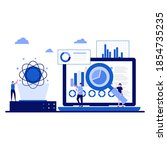 data science concept with... | Shutterstock .eps vector #1854735235