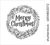 merry christmas vector...   Shutterstock .eps vector #1854802072