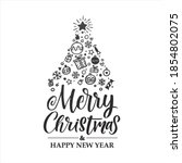 merry christmas vector...   Shutterstock .eps vector #1854802075