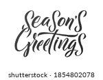 season's greetings. merry...   Shutterstock .eps vector #1854802078