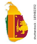 map of sri lanka with the image ... | Shutterstock .eps vector #185482352