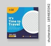 travel social media post  ... | Shutterstock .eps vector #1854835342