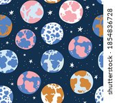 cosmos seamless pattern for...   Shutterstock .eps vector #1854836728