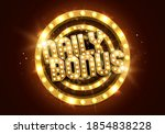 shining sign daily bonus with... | Shutterstock .eps vector #1854838228