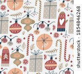 seamless pattern with christmas ... | Shutterstock .eps vector #1854846268