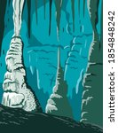 carlsbad caverns national park... | Shutterstock .eps vector #1854848242