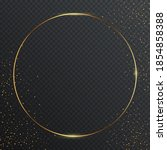 thin round golden geometric...   Shutterstock .eps vector #1854858388