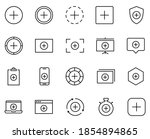 plus icon set. collection of...