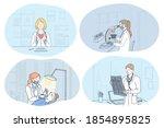 x ray in medicine  dentistry ... | Shutterstock .eps vector #1854895825