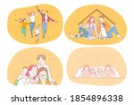 happy family  parenthood ... | Shutterstock .eps vector #1854896338