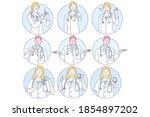 healthcare  doctor  medicine ... | Shutterstock .eps vector #1854897202