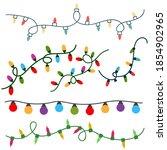 christmas garlands vector icon... | Shutterstock .eps vector #1854902965