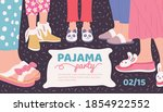 pajama party invitation poster...   Shutterstock .eps vector #1854922552