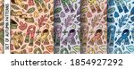 set of patterns with autumn... | Shutterstock .eps vector #1854927292