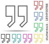 quotes multi color style icon....