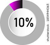 10  circle percentage diagrams  ...