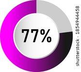 77  circle percentage diagrams  ...