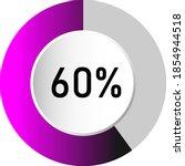 60  circle percentage diagrams  ...