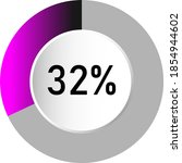 32  circle percentage diagrams  ...