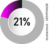 21  circle percentage diagrams  ...