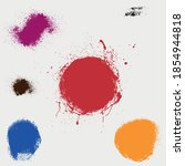 set of vector abstract grunge...   Shutterstock .eps vector #1854944818