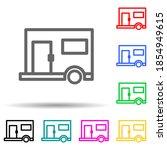 trailer multi color style icon. ...