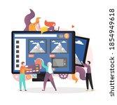 online sale  illustration. e... | Shutterstock . vector #1854949618
