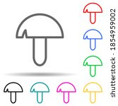 mushroom multi color style icon....