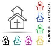 church multi color style icon....