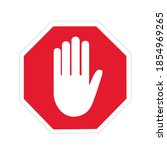 no entry hand sign vector | Shutterstock .eps vector #1854969265
