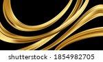 gold 3d wave on black... | Shutterstock .eps vector #1854982705