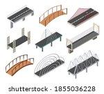 vector isometric bridges icons...   Shutterstock .eps vector #1855036228