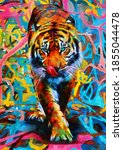 Modern Oil Painting Of Tiger ...